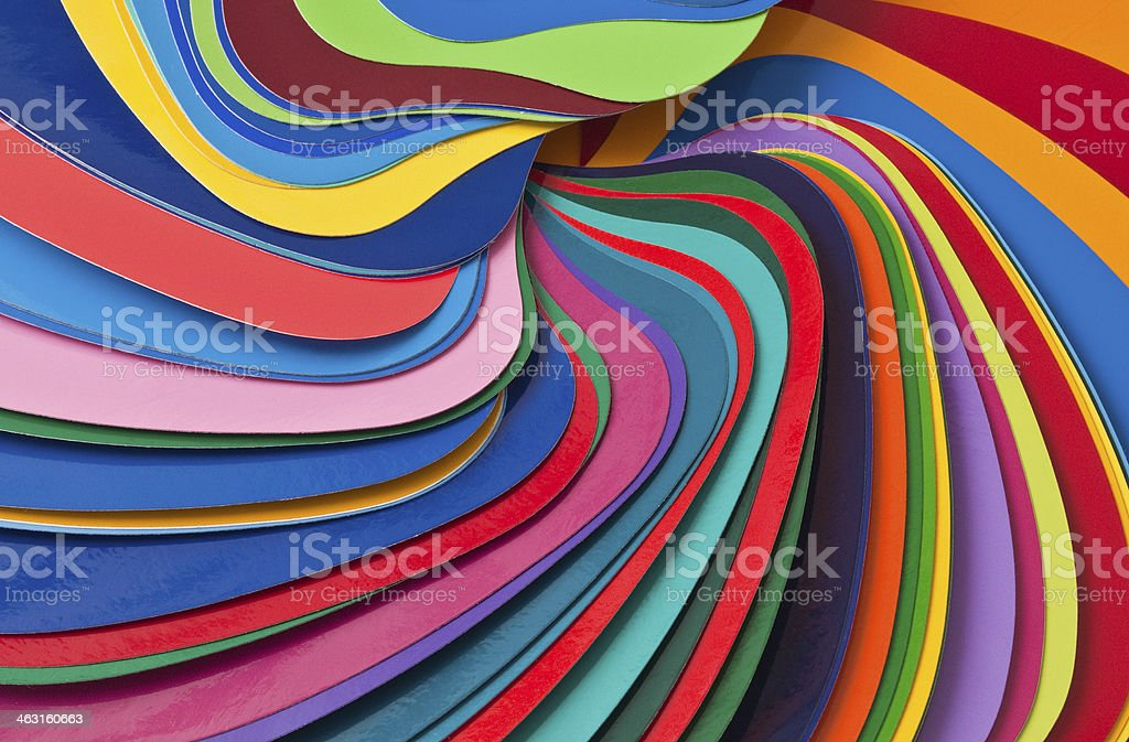 colour shade cards stock photo