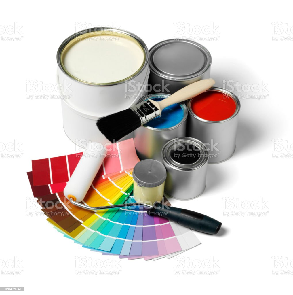 Colour Spectum Samples and Paint royalty-free stock photo