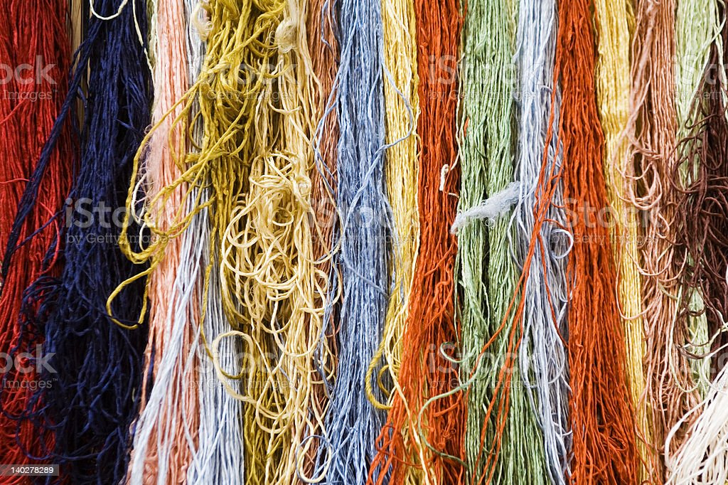 Colour strings royalty-free stock photo