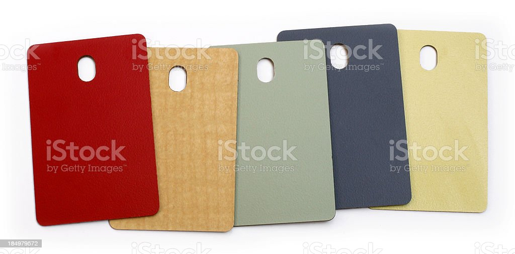 Colour swatch for interior surfaces stock photo
