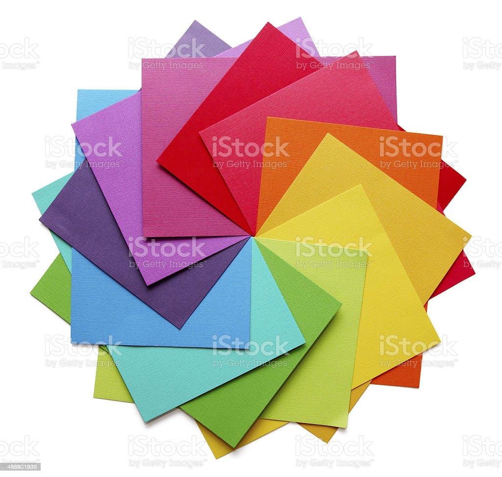 colour wheel stock photo