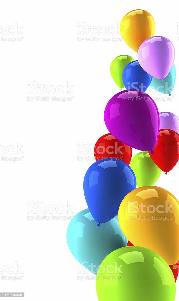 Coloured air balloons background for margins royalty-free stock photo