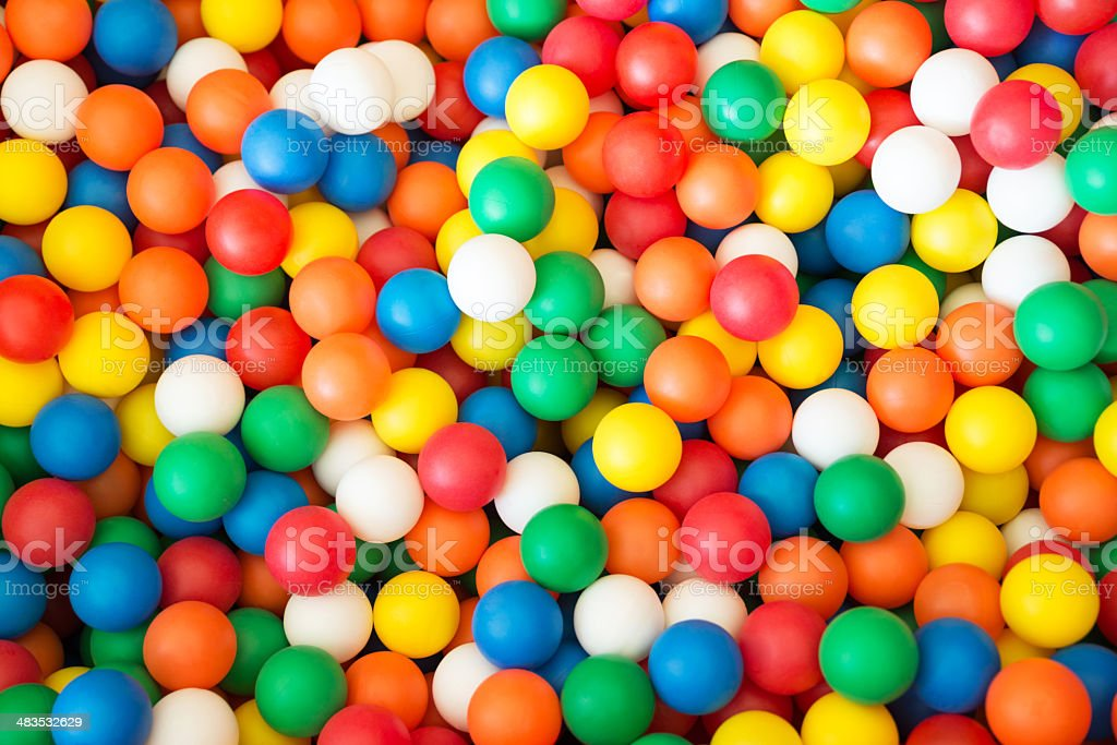 Coloured Balls stock photo