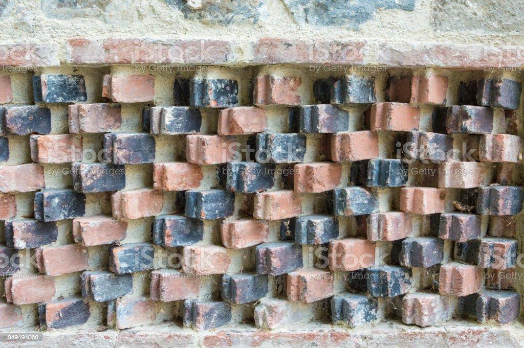Coloured brick decoration stock photo