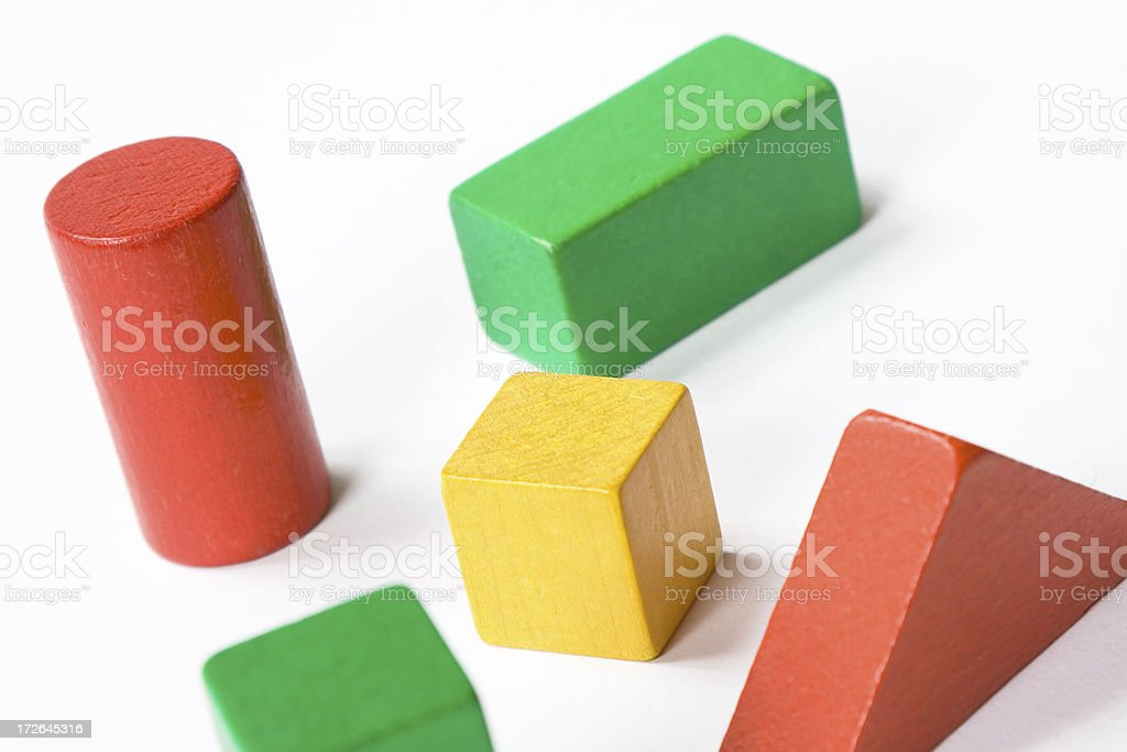 Coloured building blocks royalty-free stock photo