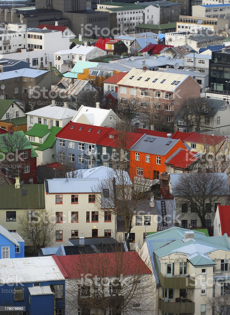 Coloured buildings in Reykjavik, Iceland royalty-free stock photo