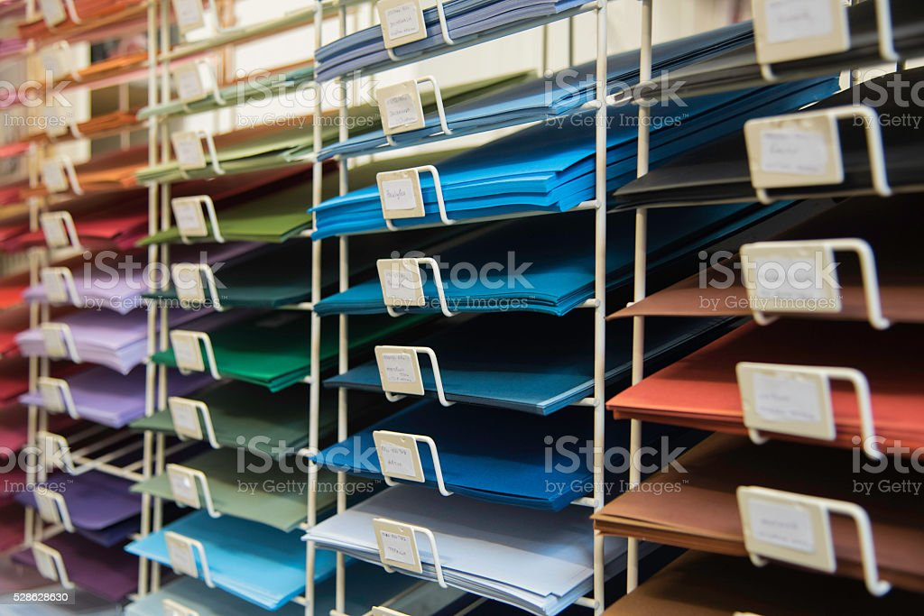 Coloured card stock photo