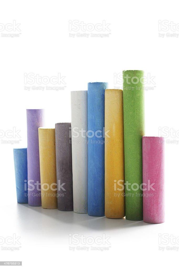 Coloured Chalk royalty-free stock photo
