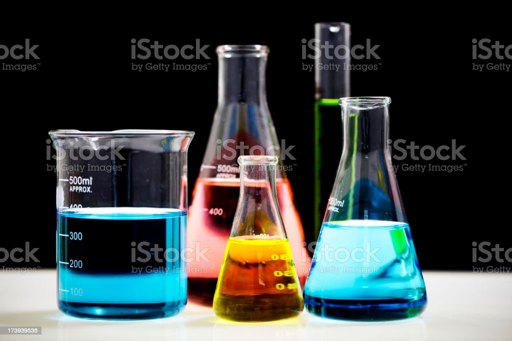 Coloured Chemistry royalty-free stock photo