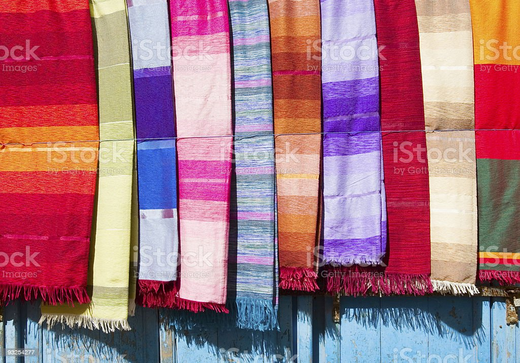 Coloured Cloth and Silk royalty-free stock photo