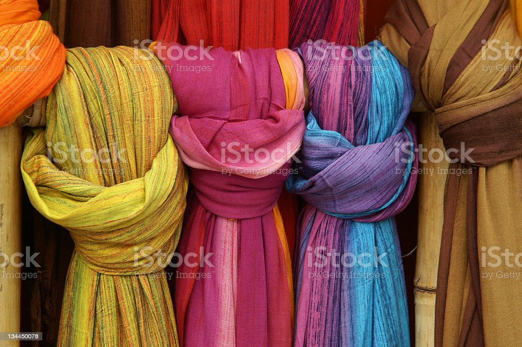 Coloured curtains royalty-free stock photo