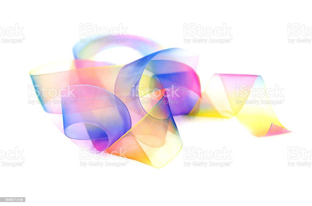 Coloured Gauze Ribbon royalty-free stock photo