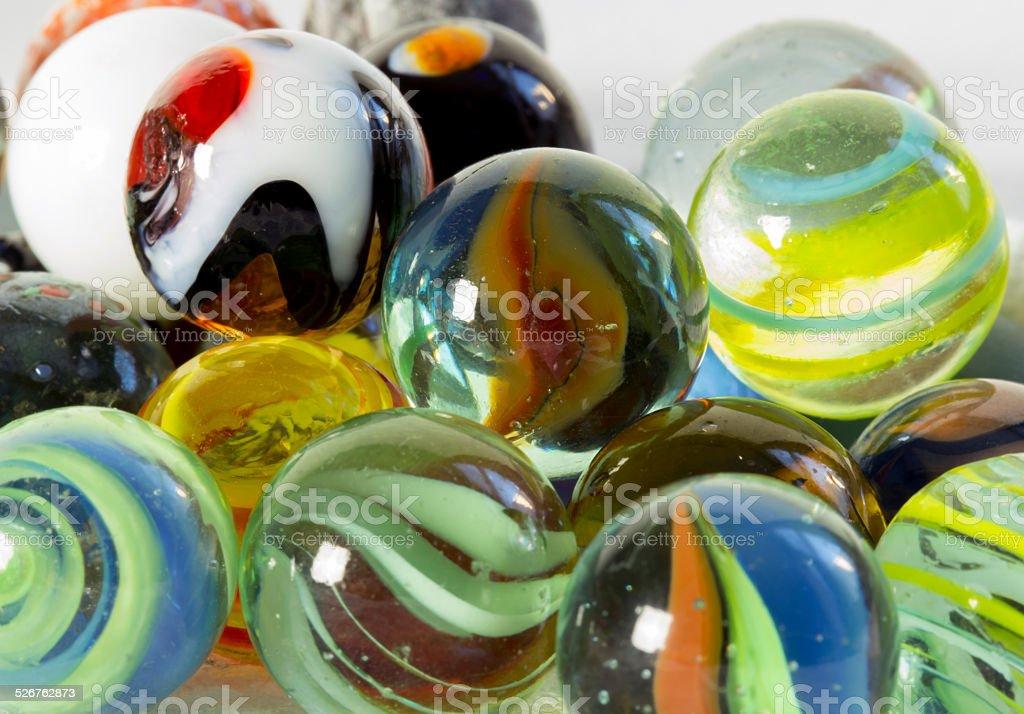 Billes de verres color?es stock photo
