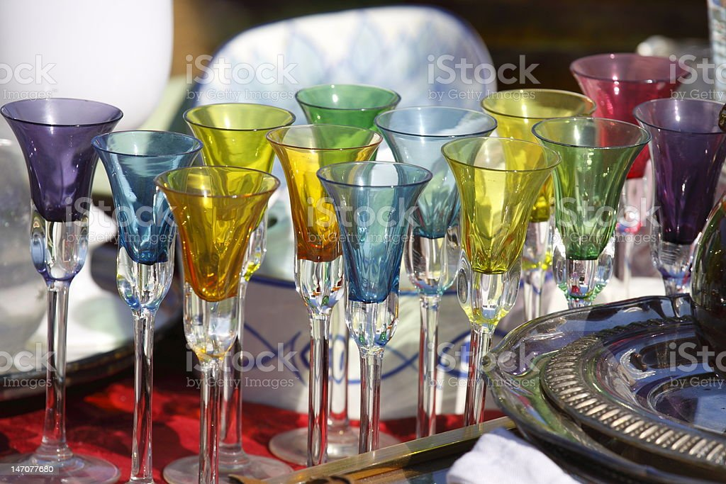 Coloured glasses royalty-free stock photo