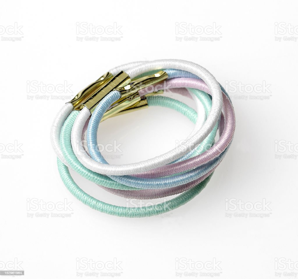 Coloured Hair Elastics stock photo