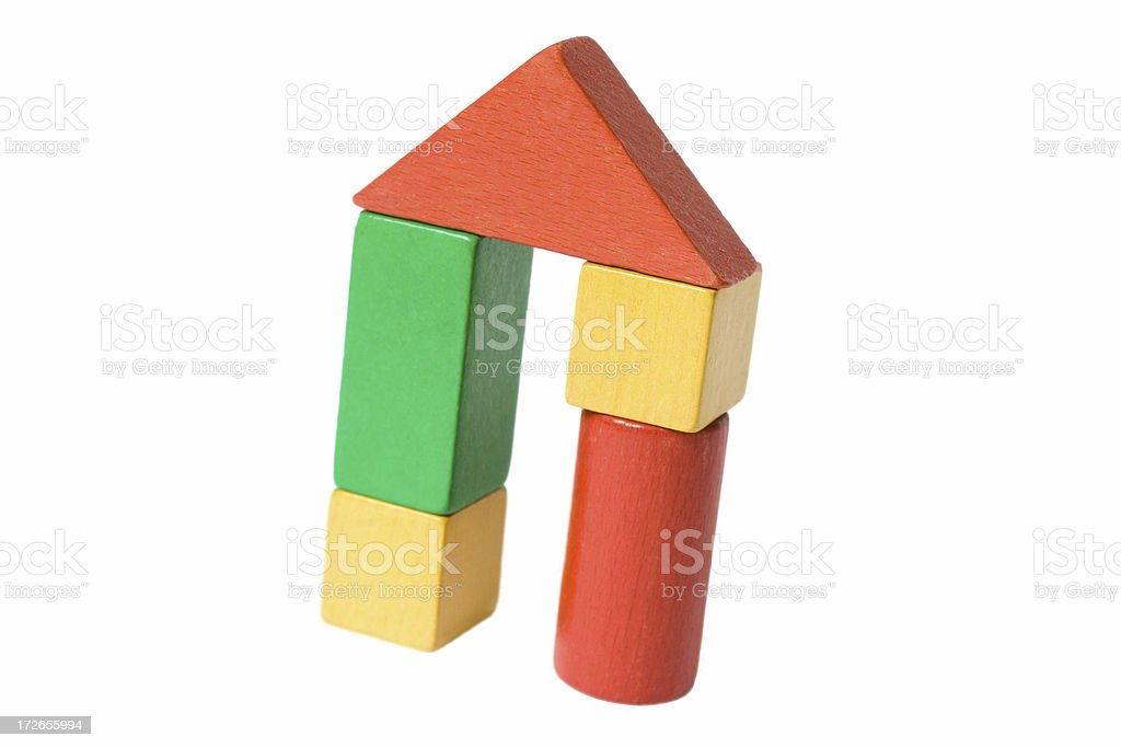 Coloured House royalty-free stock photo