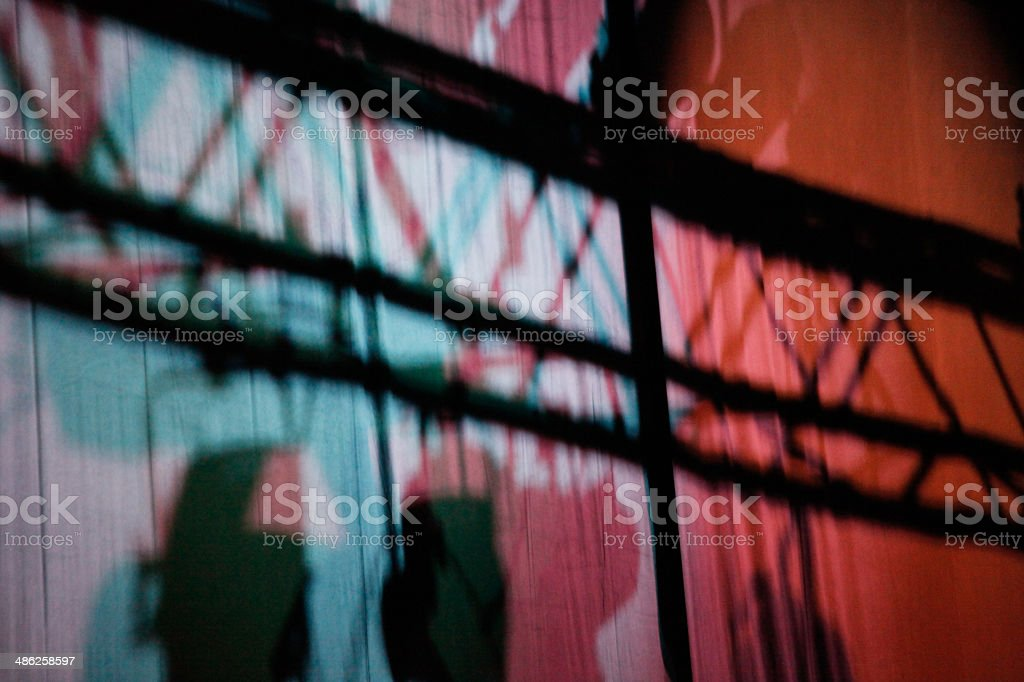 Coloured lights on stage royalty-free stock photo