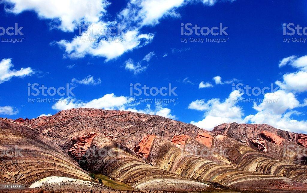 Coloured Mountain stock photo