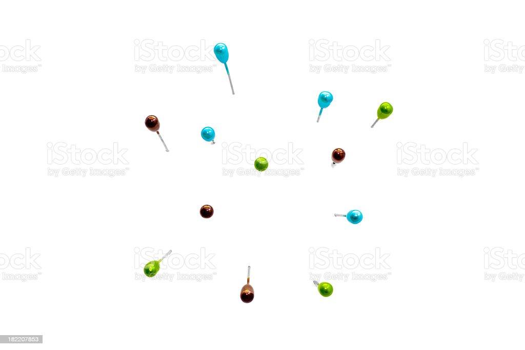 Coloured needles royalty-free stock photo