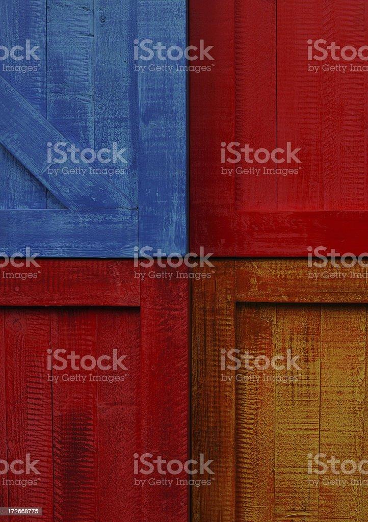 Coloured panels royalty-free stock photo