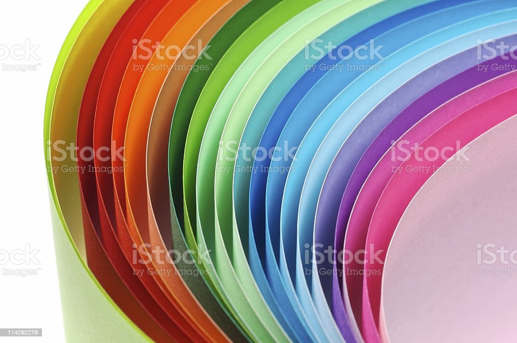 Coloured Papers... royalty-free stock photo