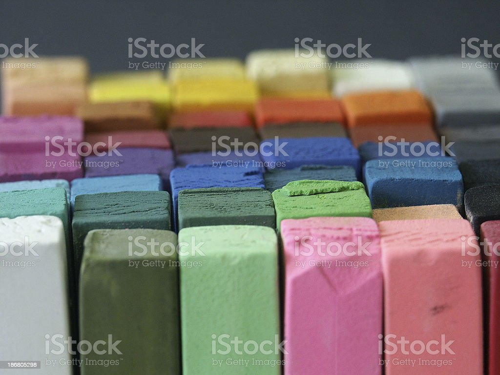 Coloured Pastels royalty-free stock photo