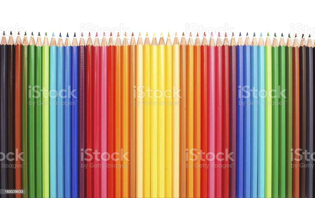Coloured pencils - horizontal royalty-free stock photo