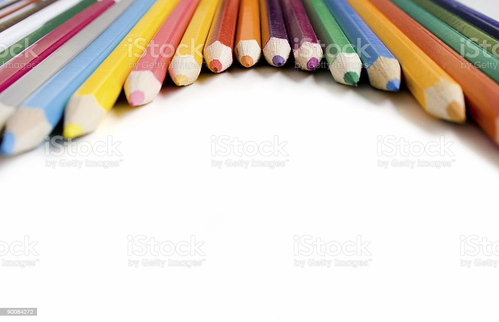 Coloured pencils royalty-free stock photo