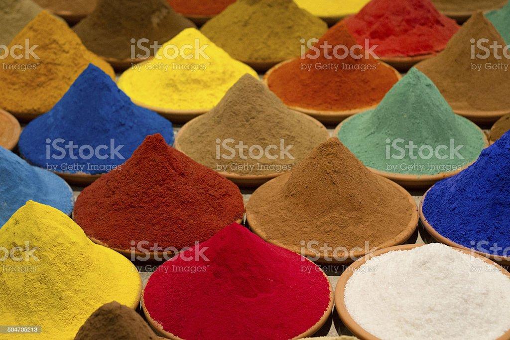 Coloured powder stock photo