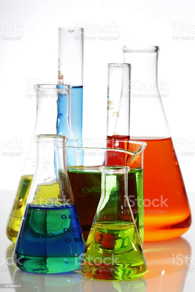 Coloured Science royalty-free stock photo