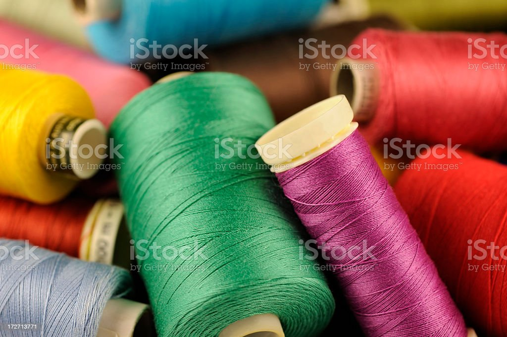 Coloured sewing threads royalty-free stock photo