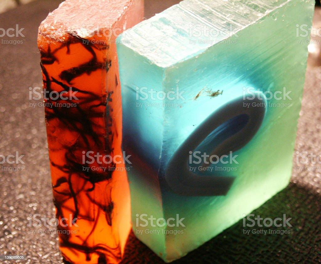 coloured soaps stock photo