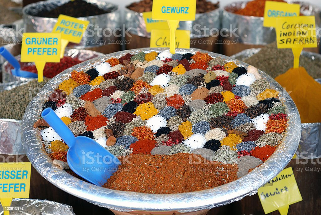 Coloured Spices royalty-free stock photo