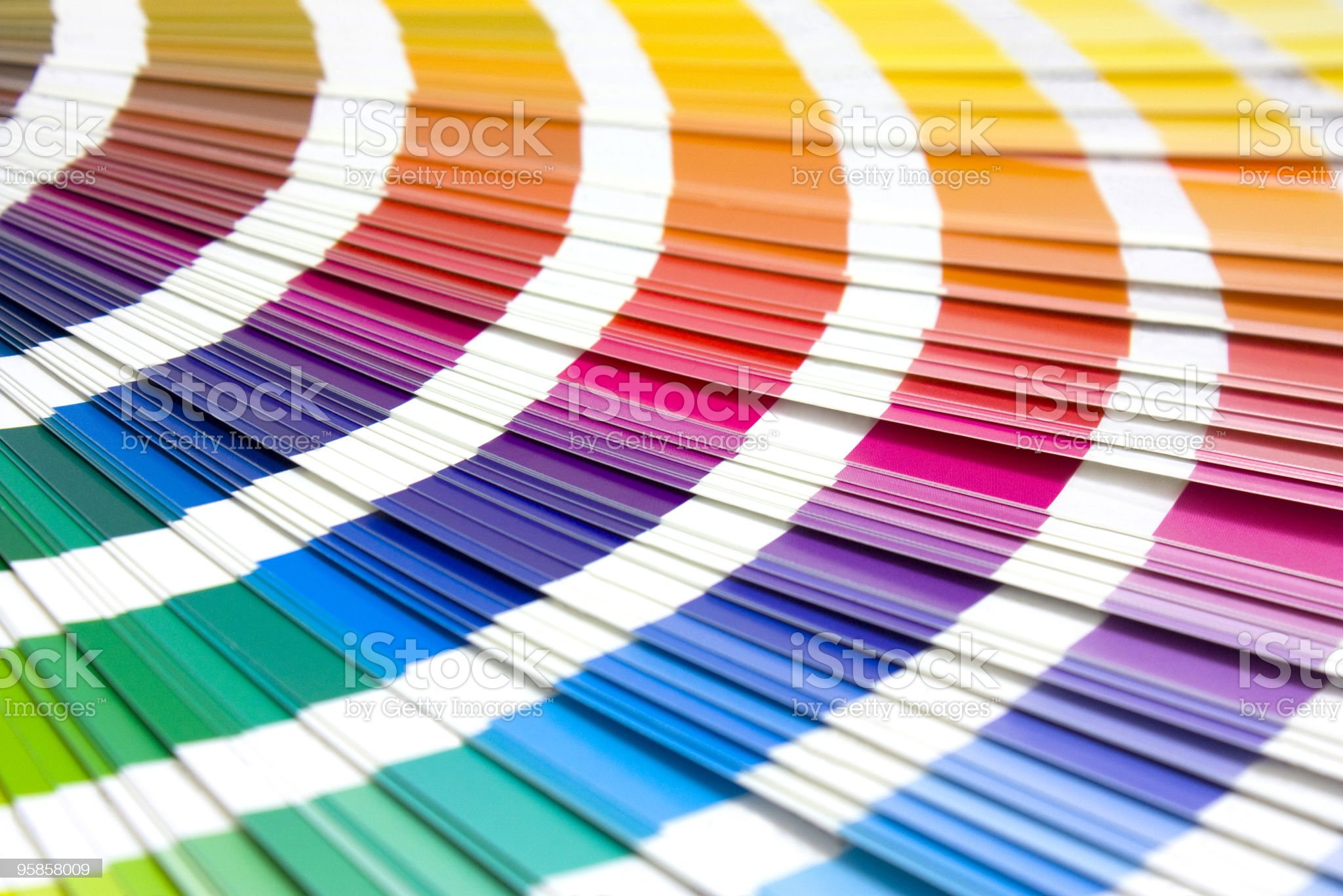 coloured swatches book royalty-free stock photo