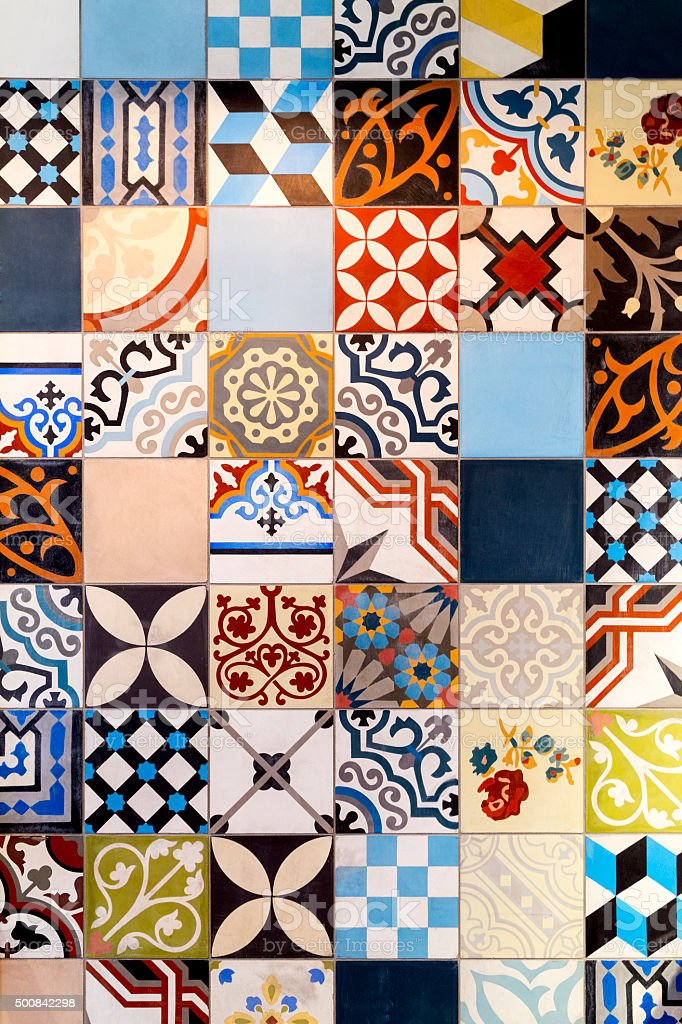 Coloured Tiles stock photo