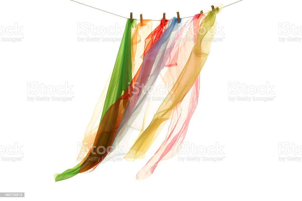 coloured tull royalty-free stock photo