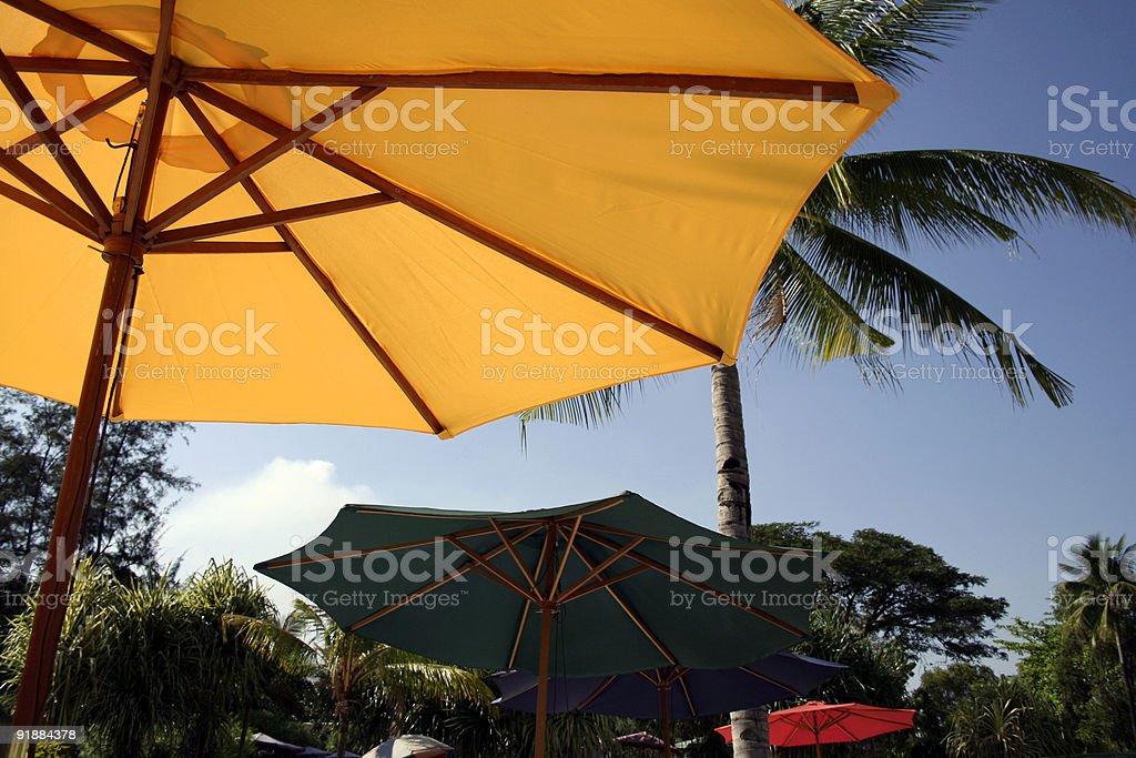 coloured umbrellas royalty-free stock photo