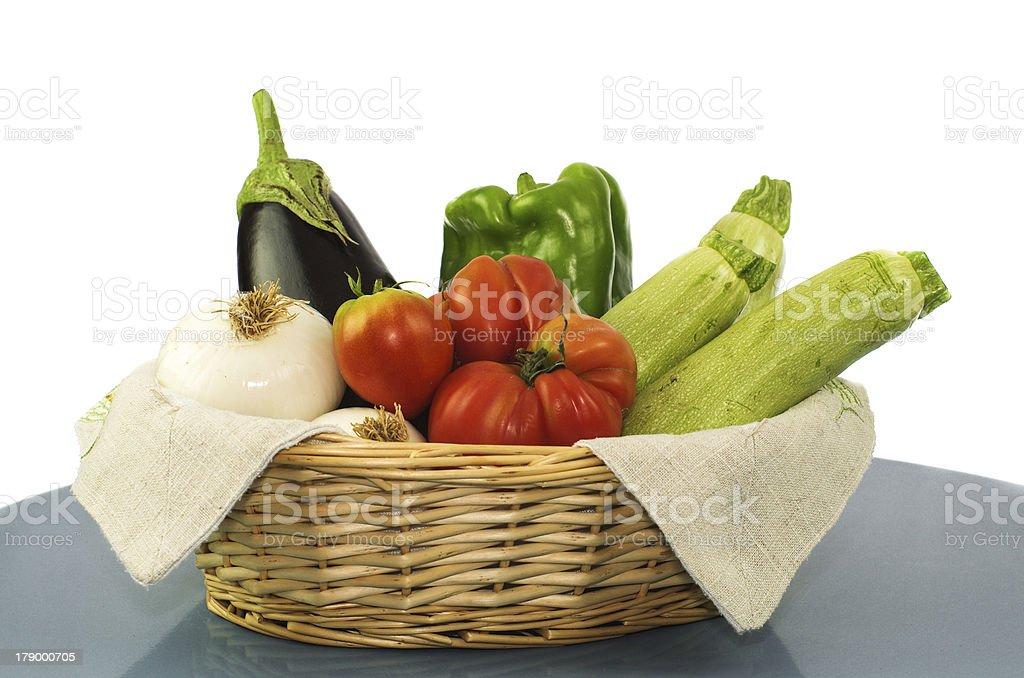 coloured vegetables on white royalty-free stock photo