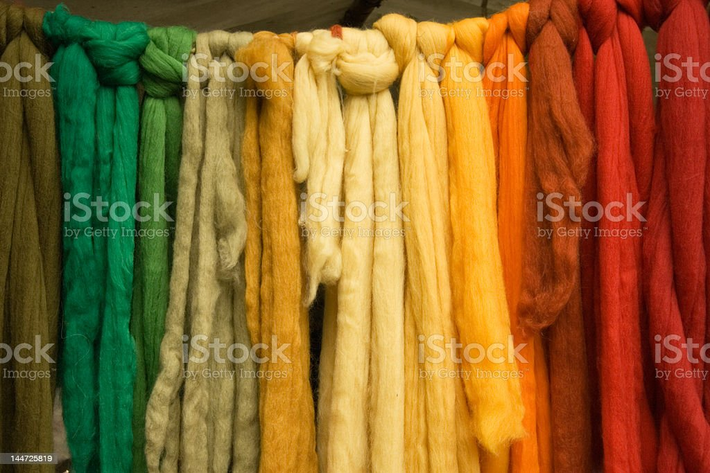 Coloured Wool Belts stock photo