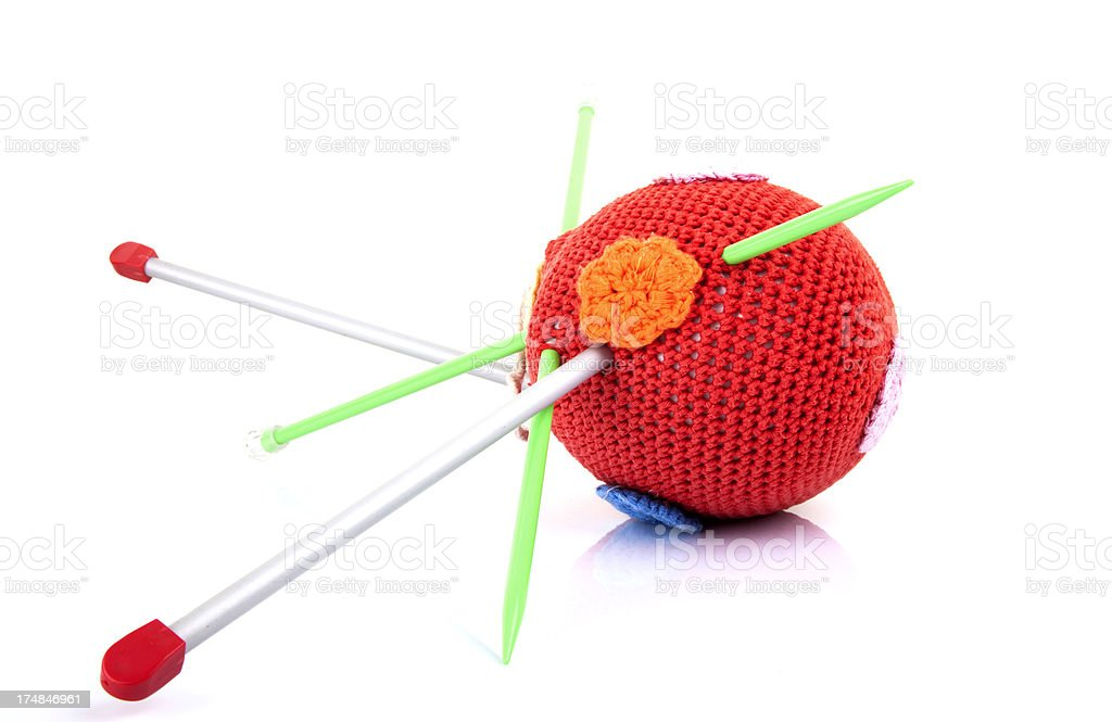 coloured woolen ball royalty-free stock photo