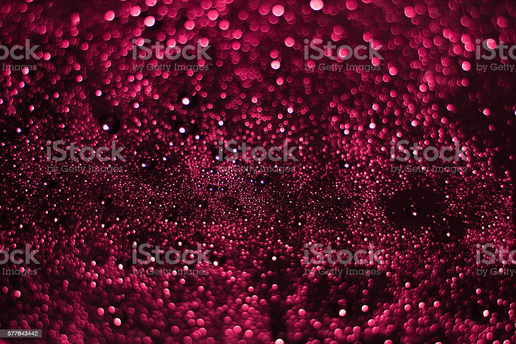 Colourful abstract bokeh on a black background design stock photo