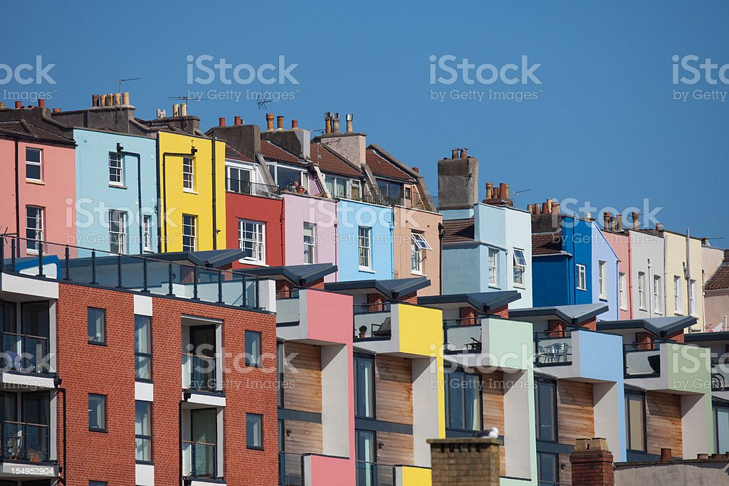 Colourful And Crowded City Living stock photo