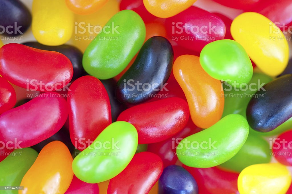Colourful and Sweet Jelly beans close up royalty-free stock photo