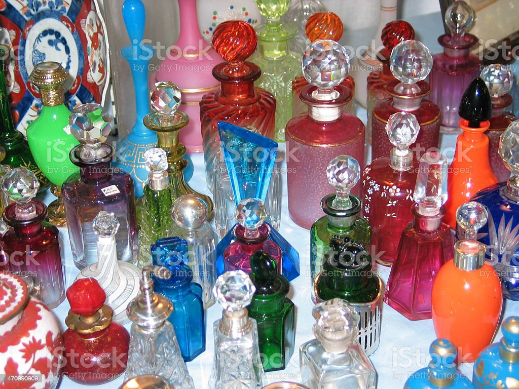 Colourful Antique Bottles royalty-free stock photo