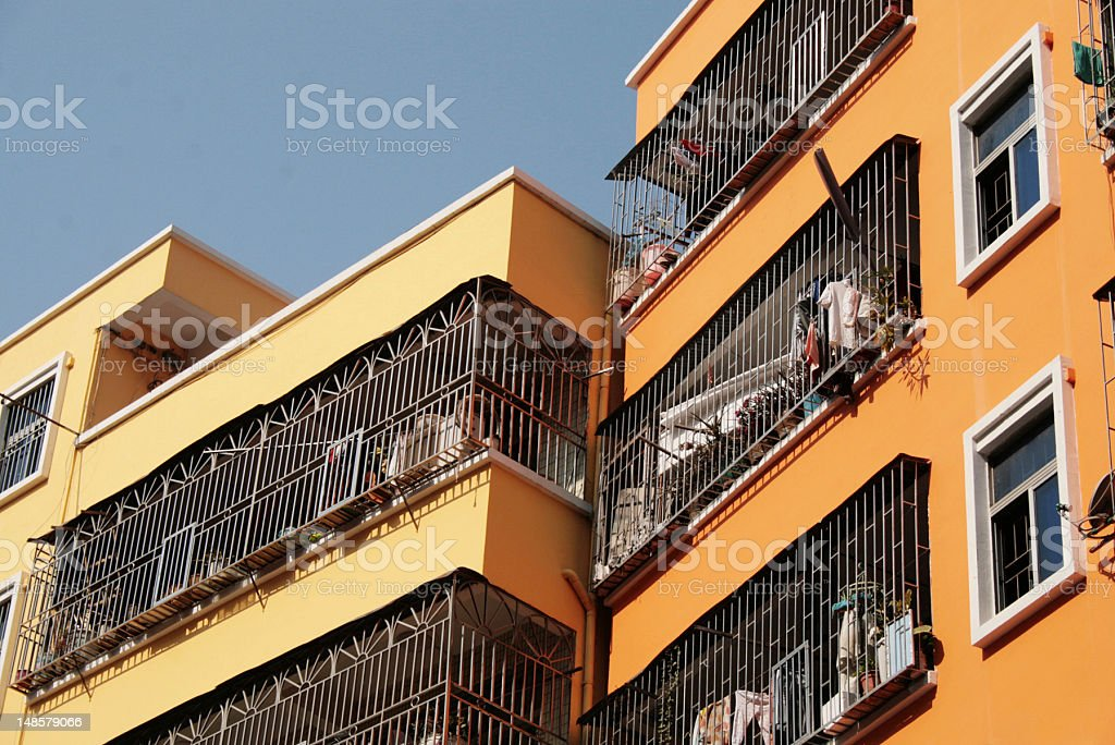 Appartements colorate foto stock royalty-free