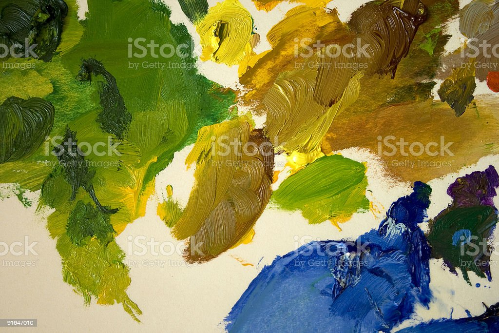 Colourful artist's palette royalty-free stock photo