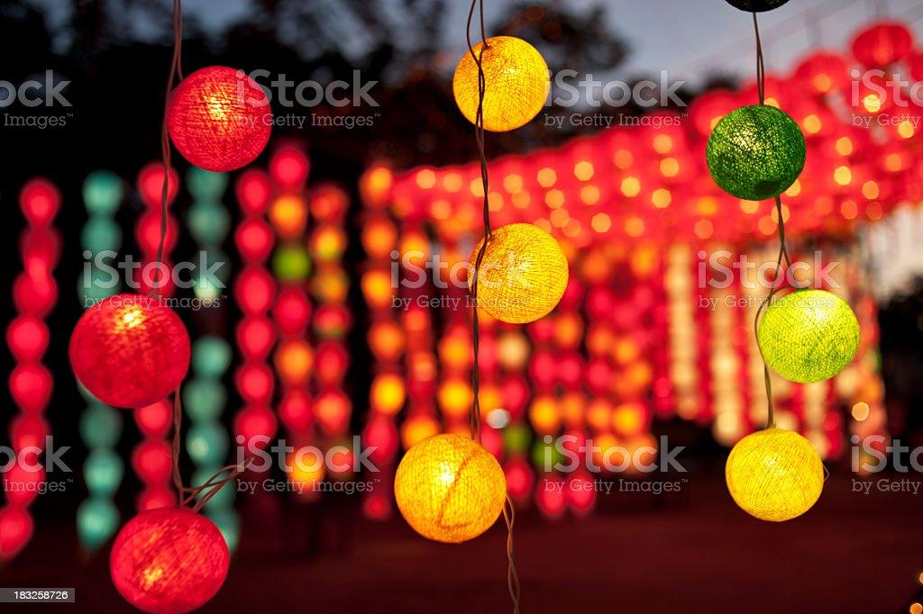 Colourful Asian Lanterns stock photo