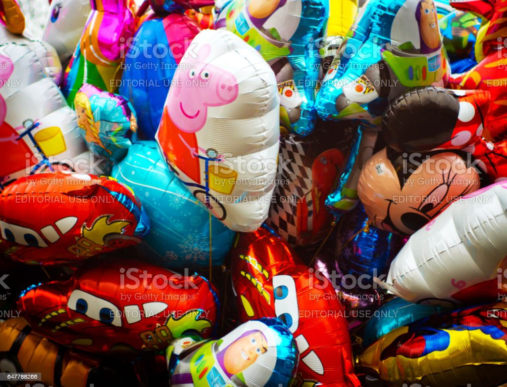 Colourful balloons stock photo