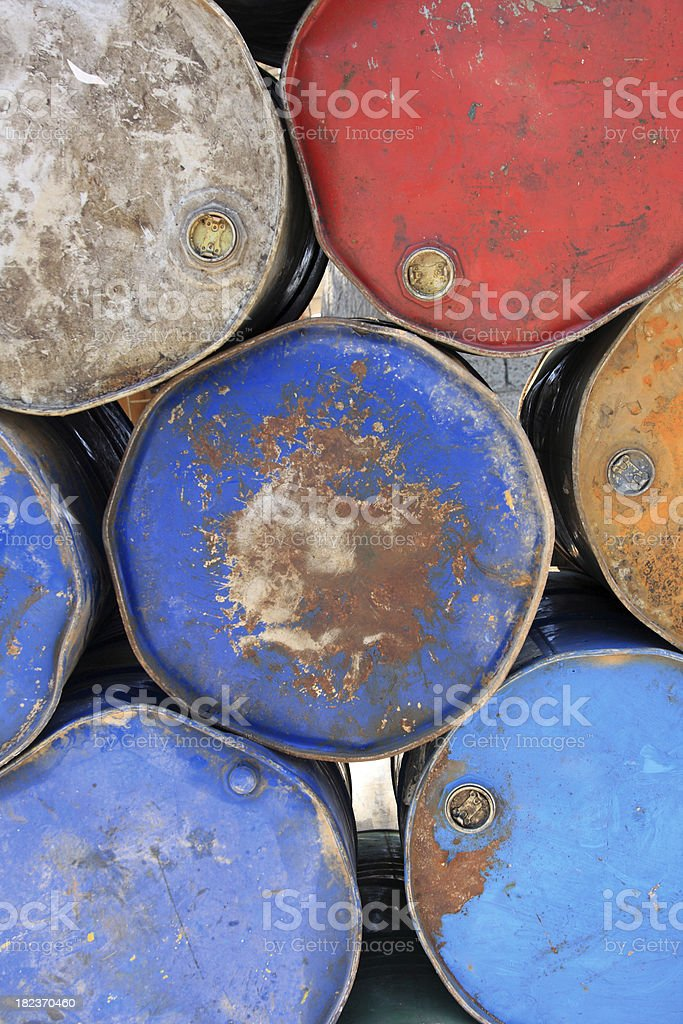 colourful Barrels royalty-free stock photo
