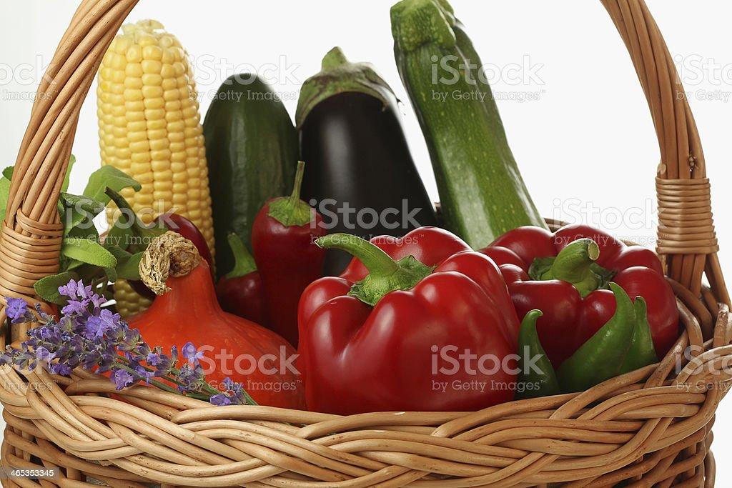 Colourful basket royalty-free stock photo